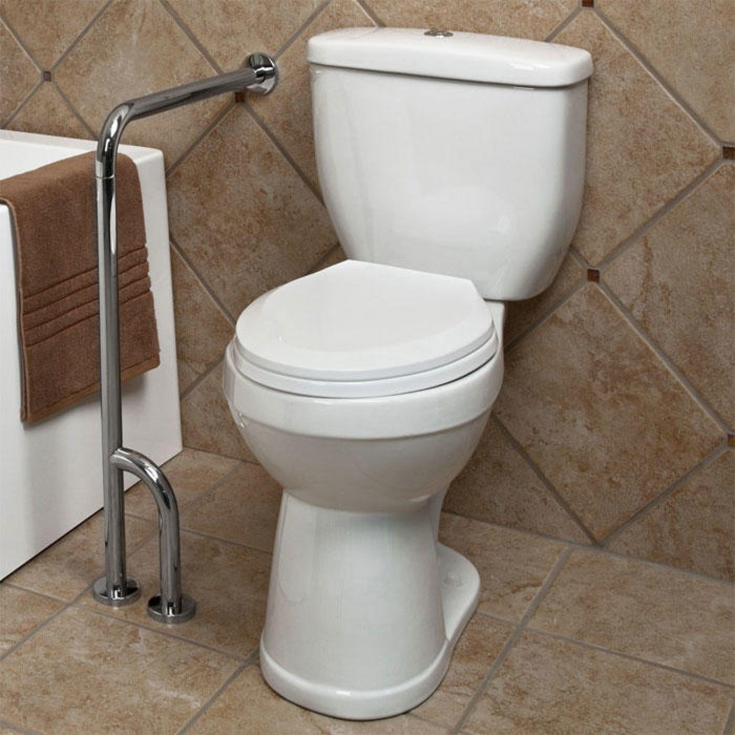 Attirant Pickens Wall To Floor Grab Bar Bathroom Pertaining To Dimensions 1500 X  1500 Floor Mounted Grab Bars For Bathrooms   This I