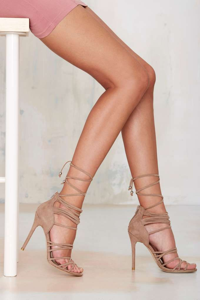 Wrap Me Up Suede Heel | Bags Jewelry Shoes.| Pinterest