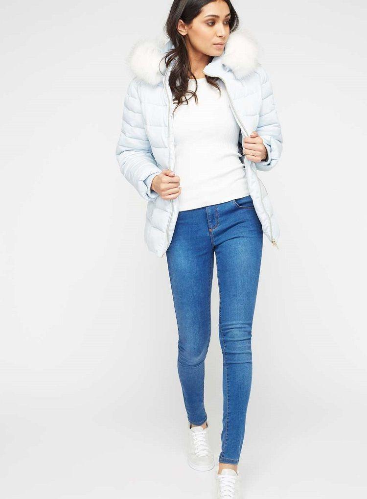 Doudoune matelassée bleu pâle Miss Selfridge   Zalando   Pinterest 1ad9ed5cbab