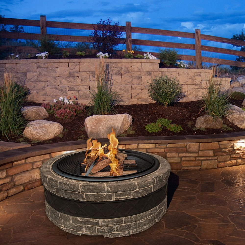 Sun Joe Cast Stone Fire Pit & Reviews Wayfair Stone