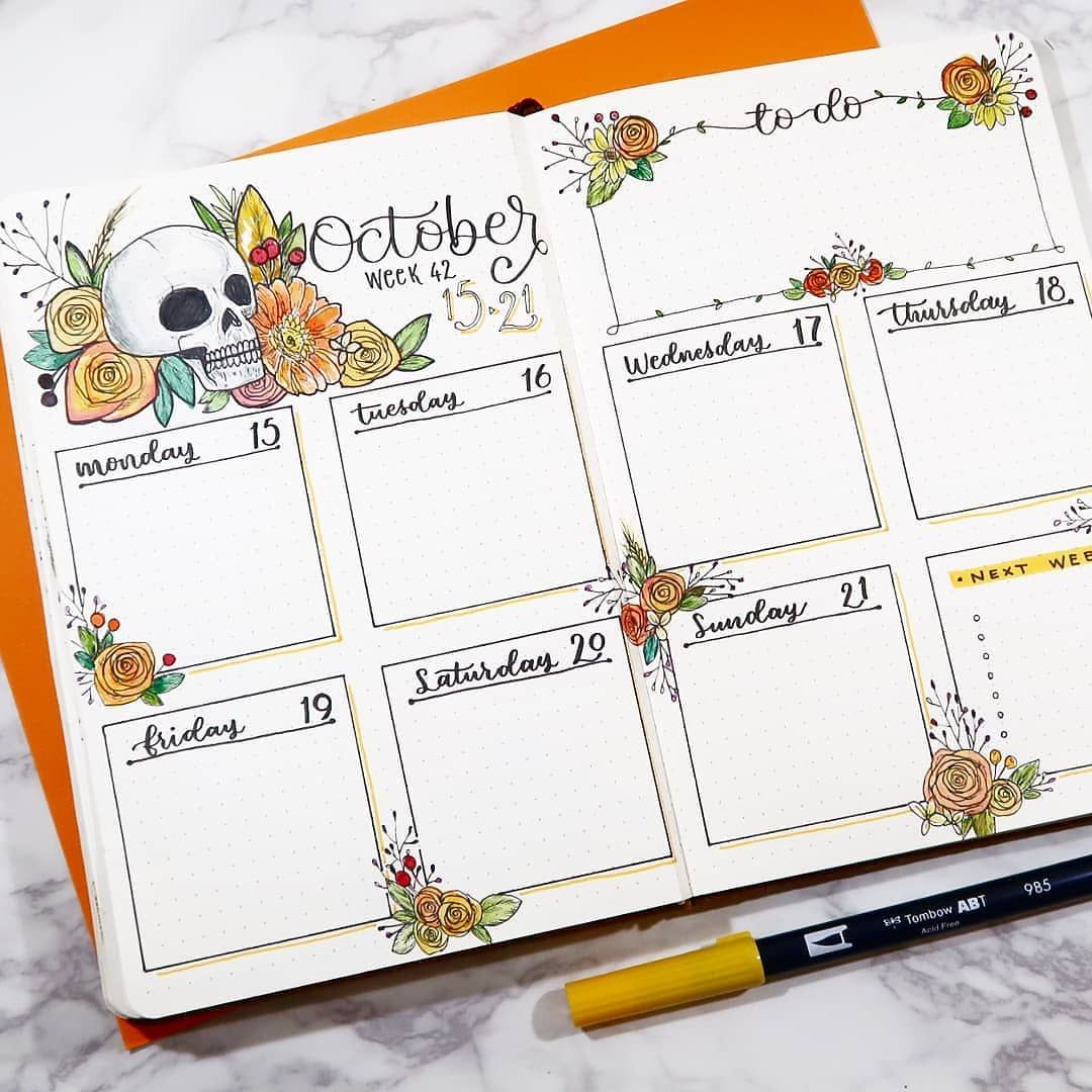 Check out @instantprintable on insta. Bujo Weekly layout