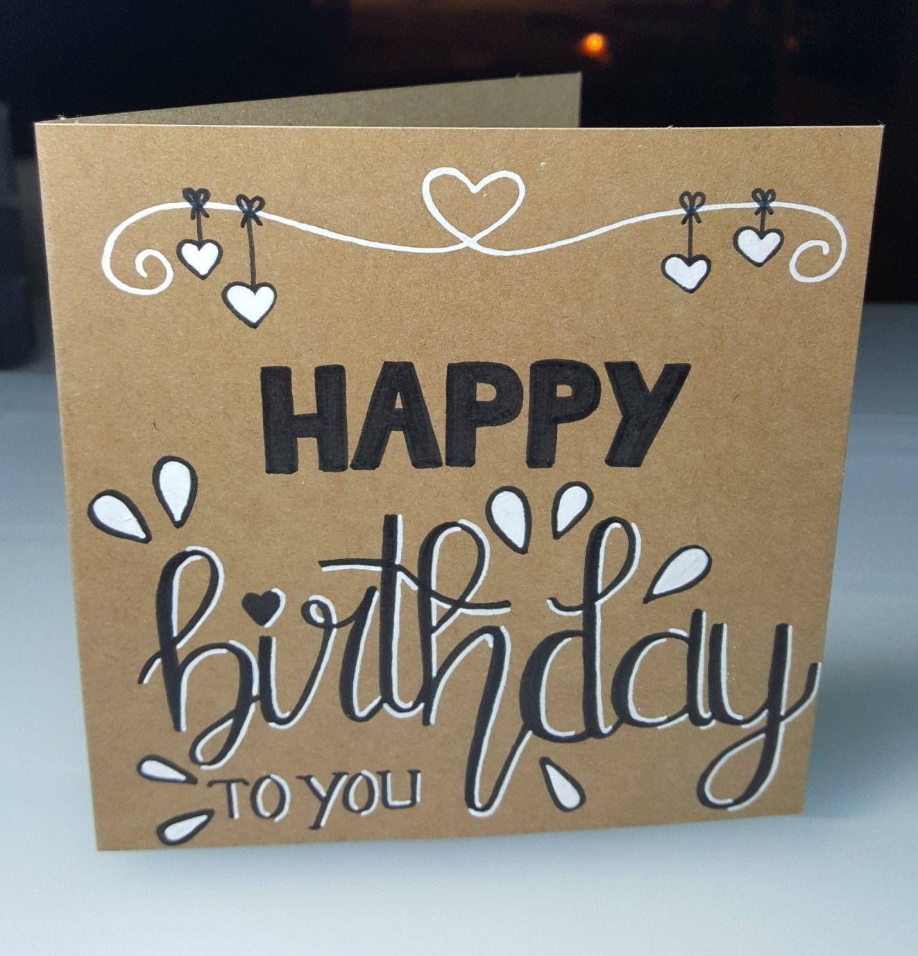 Daddy Birthday Handwriting Handmade Birthday Cards Happy