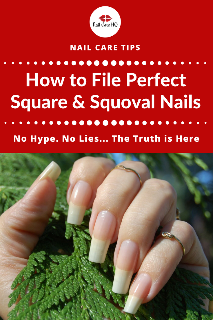 ASK ANA - How To File Nails the Square & Squoval Shape | Natural nails