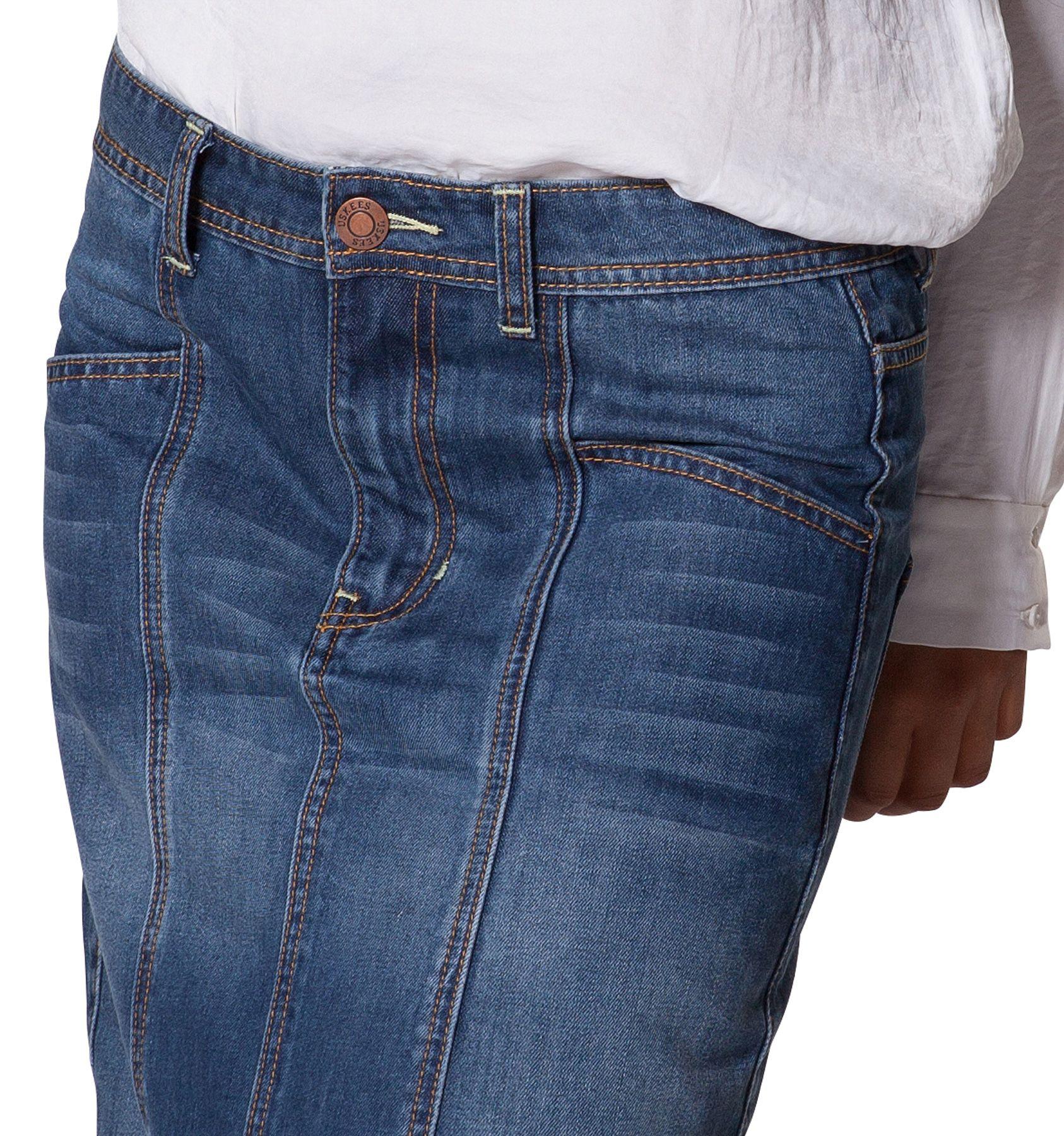 USKEES 'Carole' Long Denim Skirt - quality denim maxi skirt ...