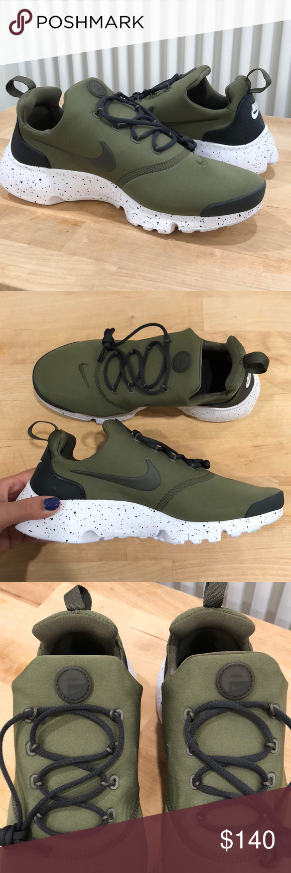3f40123dfb0 OLIVE GREEN NIKE PRESTO FLY! Brand new with box! These are a size 6 ...