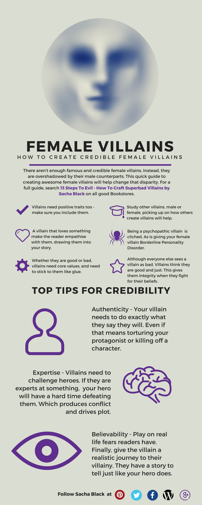 Top Tips for Writing Female Villains from 13 Steps To Evil - How To Craft A Superbad Villain