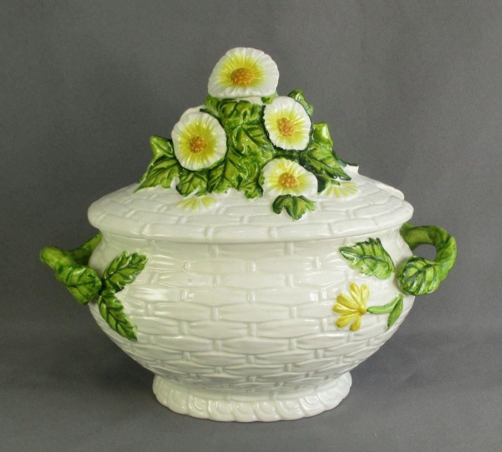 Lefton rustic daisy soup tureen porcelain basket weave floral mid lefton rustic daisy soup tureen porcelain basket weave floral mid century japan reviewsmspy