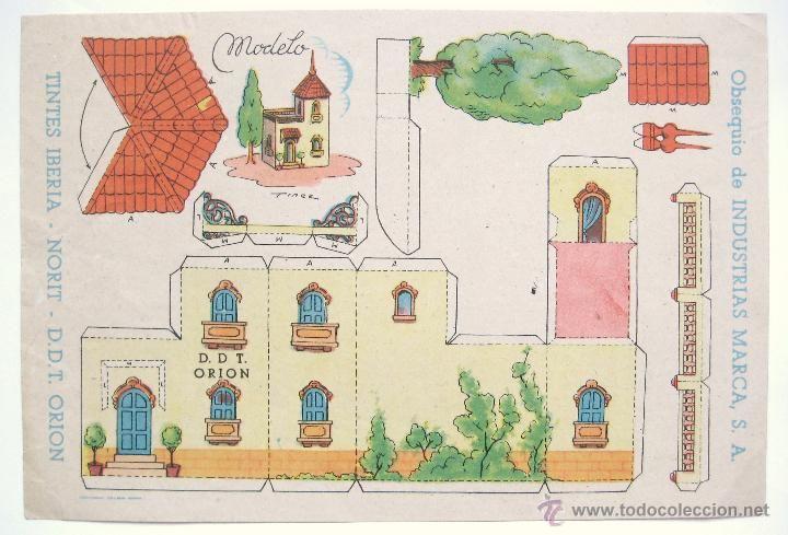 RECORTABLE PUBLICIDAD TINTES IBERIA NORIT DDT ORION INDUSTRIAS MARCA: CASA CHALET PALACETE - Foto 1