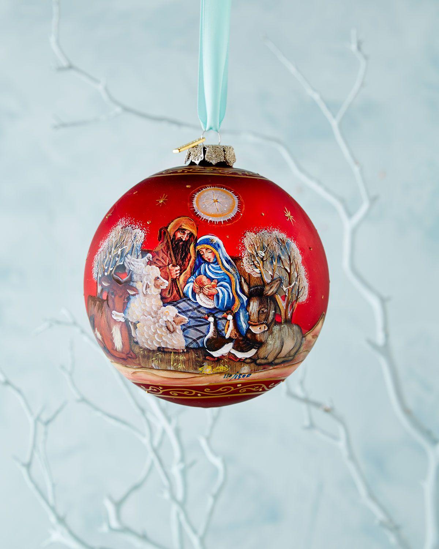 G Debrekht Story Of Nativity Ornament