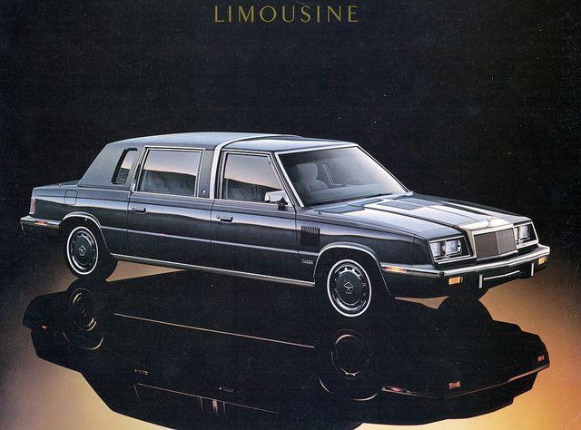 1986 Chrysler Lebaron Limousine Chrysler Lebaron Chrysler