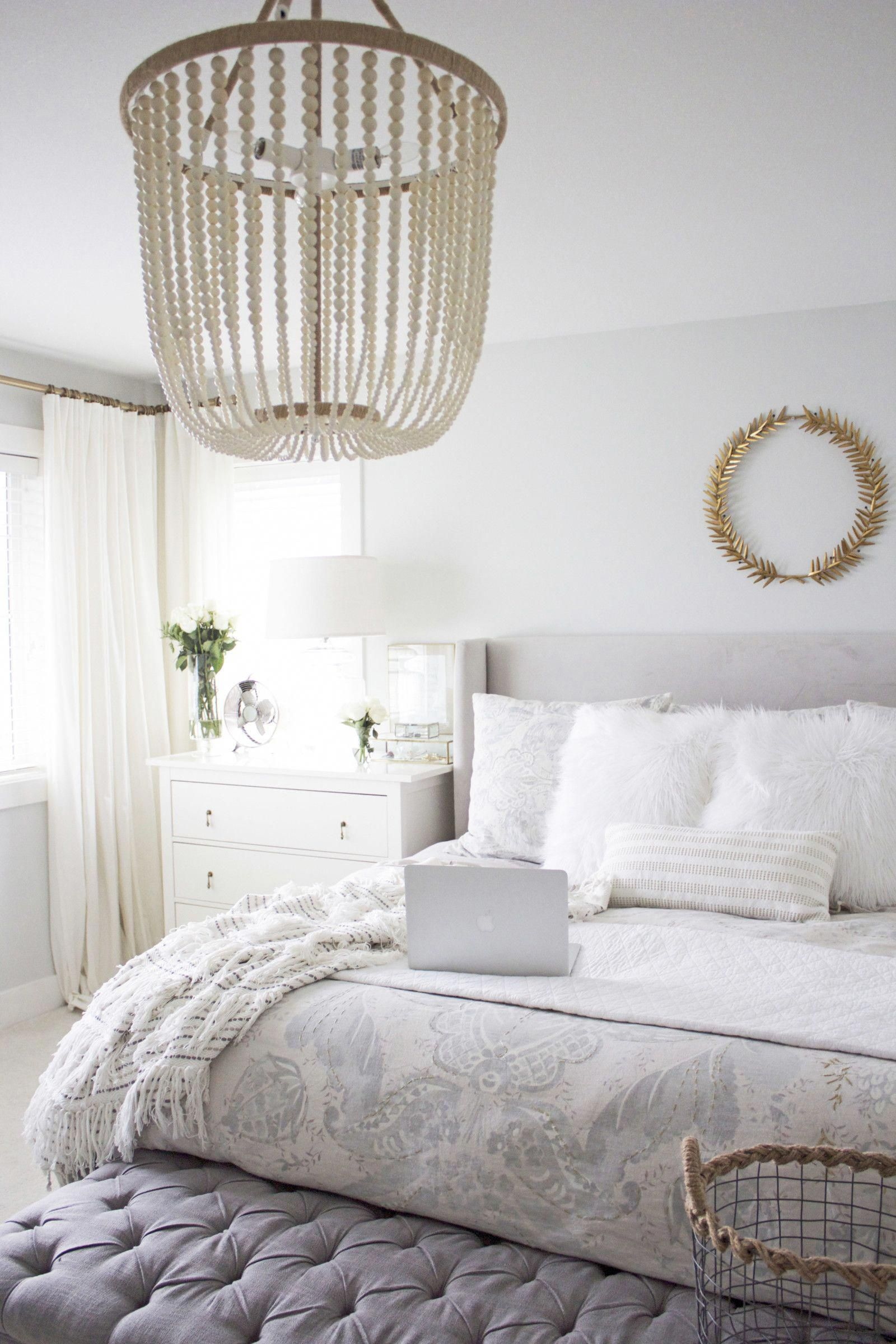 Master Bedroom A Work In Progress Arrow And Lace Blog Masterbedroomikea Grey Upholstered Bed Bedroom Interior Bedroom Design