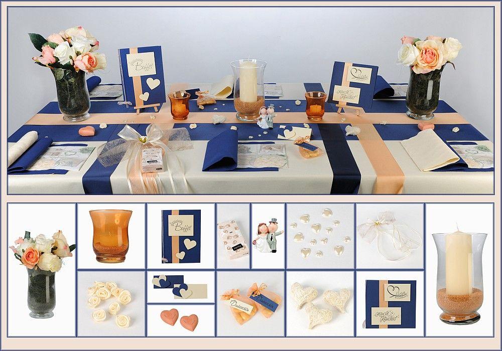 tischdeko hochzeit 14 in apricot als mustertisch tischdeko hochzeit pinterest. Black Bedroom Furniture Sets. Home Design Ideas