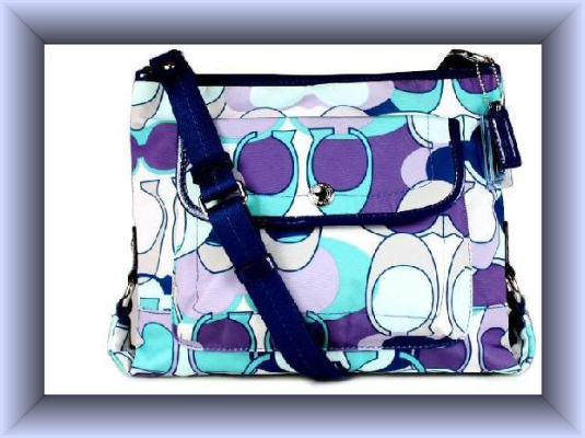 'authentic Coach Kyra Scarf Print Crossbody Bag -' is going up for auction at  9pm Sun, Dec 30 with a starting bid of $90.