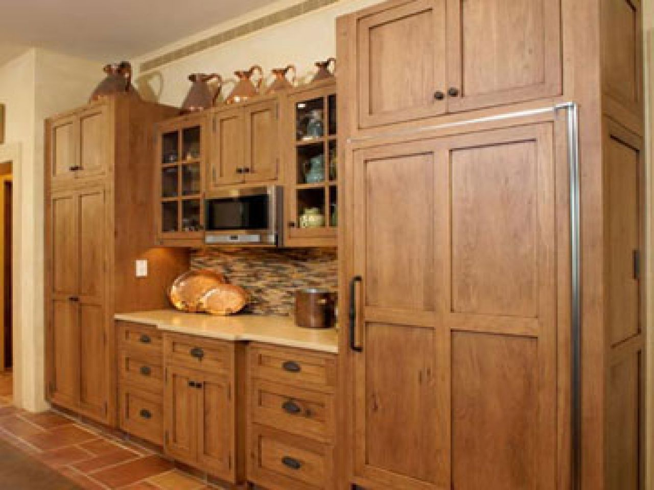 hickory shaker style kitchen cabinets moen pullout faucet alder new ideas in