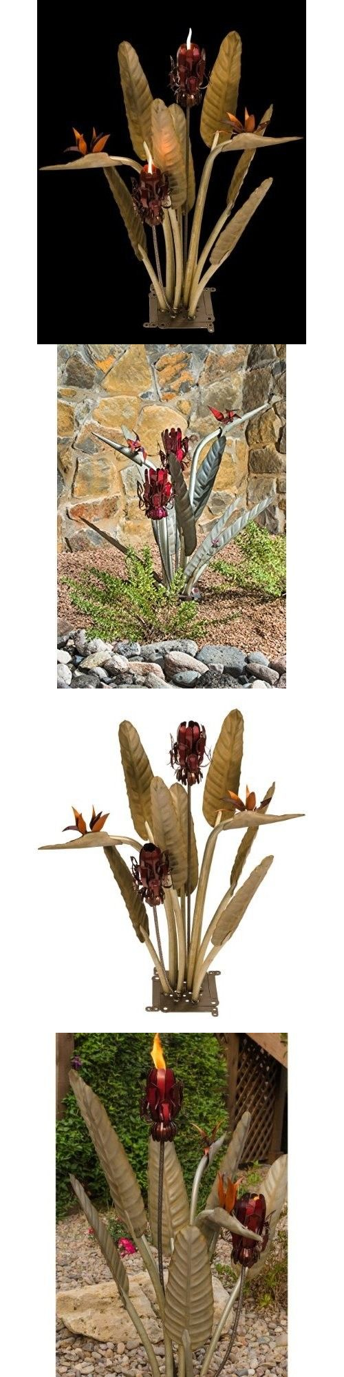 paradise outdoor lighting. garden and patio torches 183391 metal flower tiki torch steel birds of paradise outdoor lighting