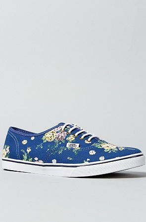 Vans Footwear The Authentic Lo Pro Sneaker in Blue Floral  fed6e59147c7