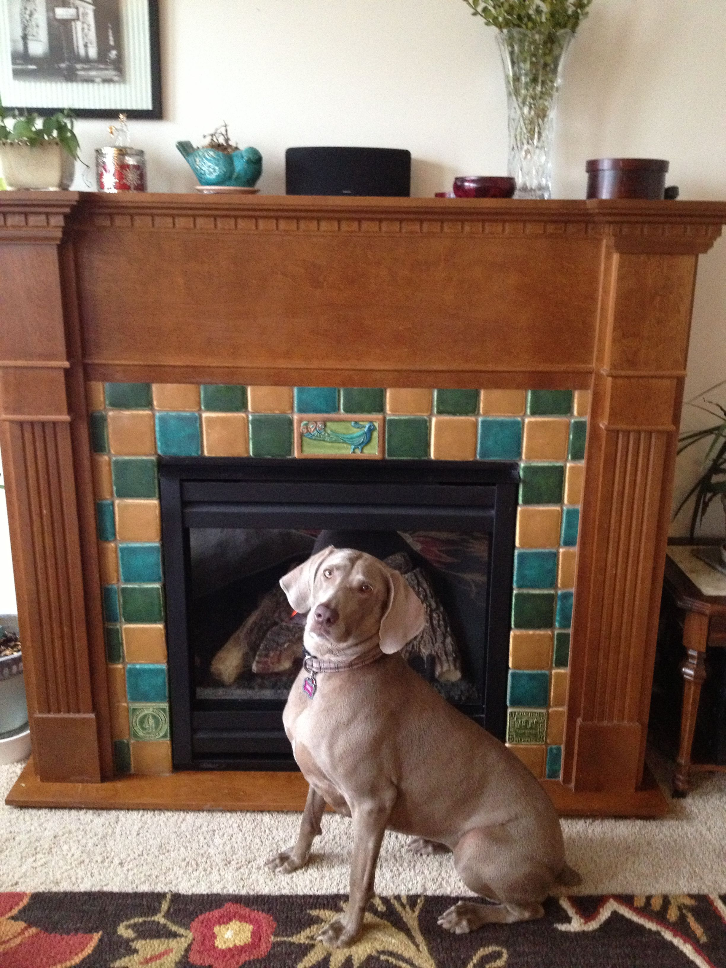 diy fireplace tiles using custom stratton tiles from pewabic