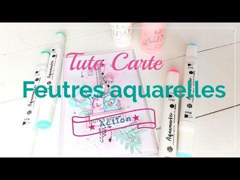 Tuto Carte Feutres Aquarelle De Chez Action Youtube Carte