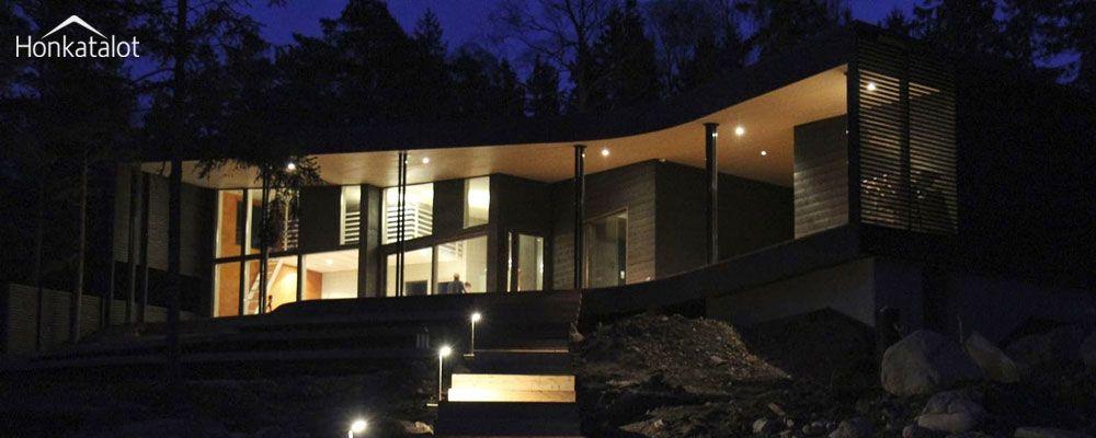 Moderni vapaa-ajan asunto | Puurakentaminen | Finland | Honkatalot.fi