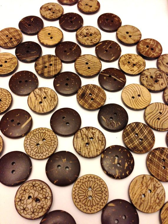 Coconut Wood Buttons In Bulk Etsy Buttons Supplies Coconut