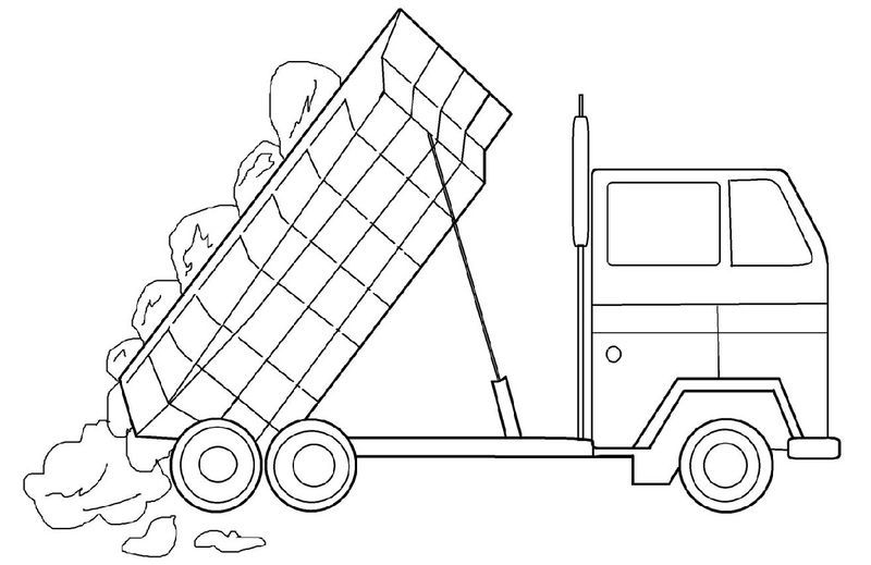 Dump Truck Pictures For Kids Simple