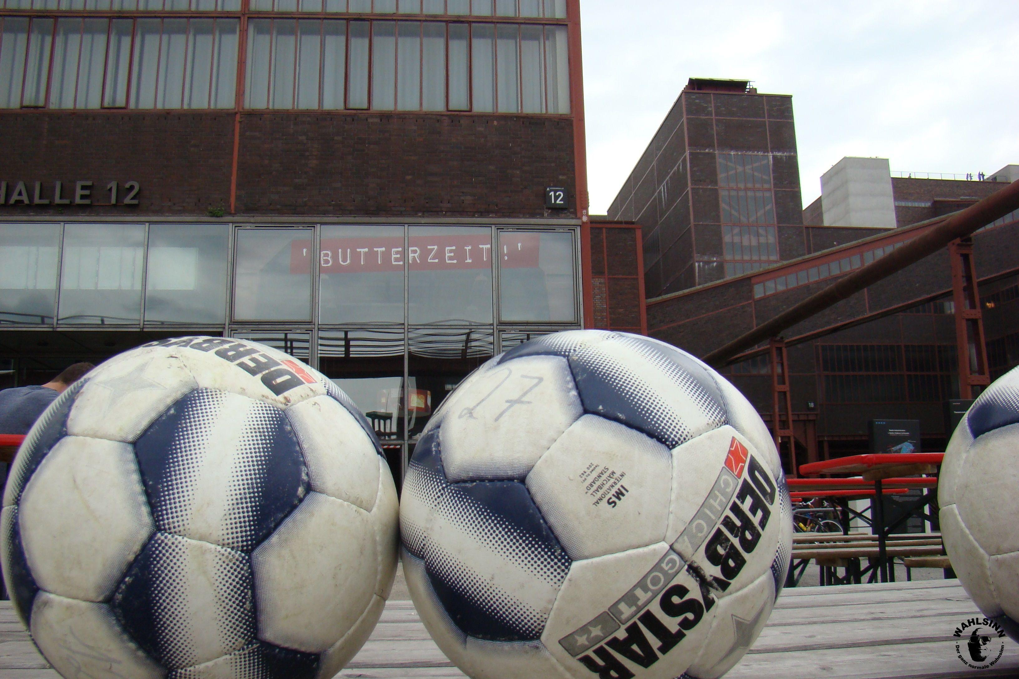 Fußballgolf - Kurz vorm Kickoff auf Zeche Zollverein in Essen