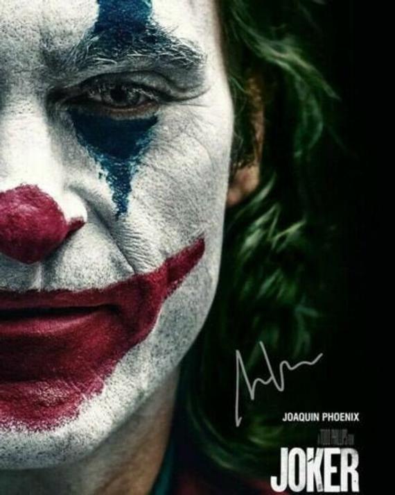 the Joker 2019 Joaquin Phoenix Movie Cast Signed Photo Autograph Reprint Poster