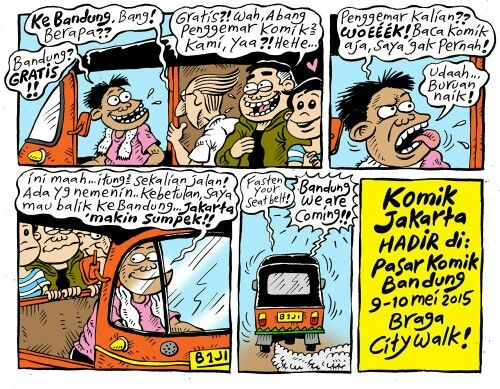 Komik Jakarta akan hadir di Pasar Komik Bandung (Pakoban 2015). Hari Sabtu & Minggu (tgl 9 & 10 Mei 2015) di Braga