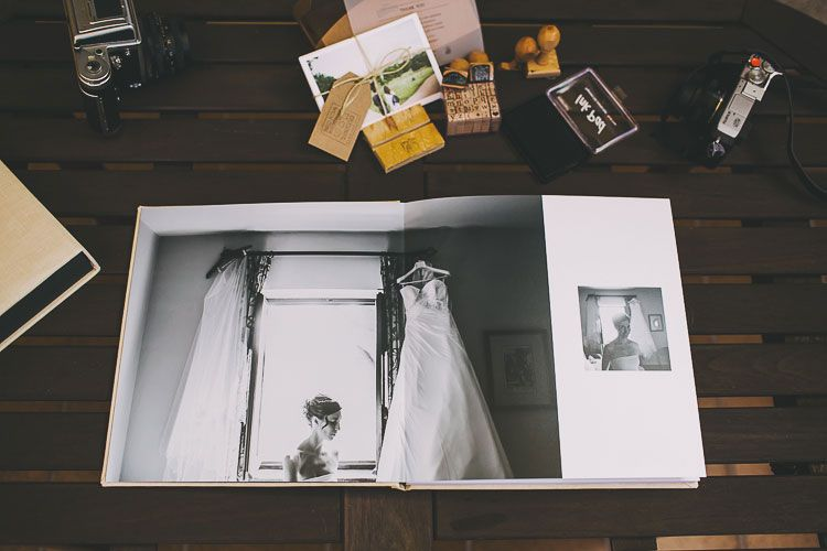 Fine Art Wedding Album Handmade Artisan With Stamps To Produce A Material And Tangible