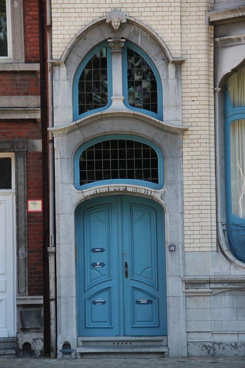 Art Nouveau entrance in Liège, Belgium.