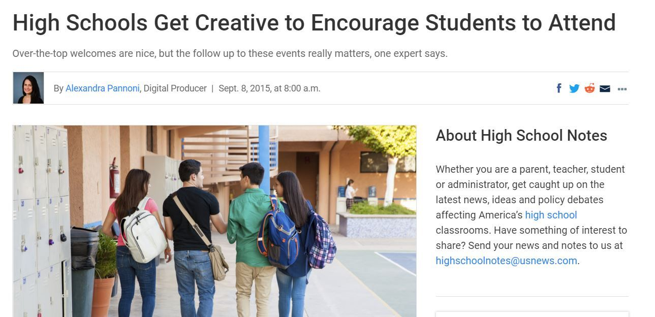 High Schools Get Creative to Encourage Students to Attend