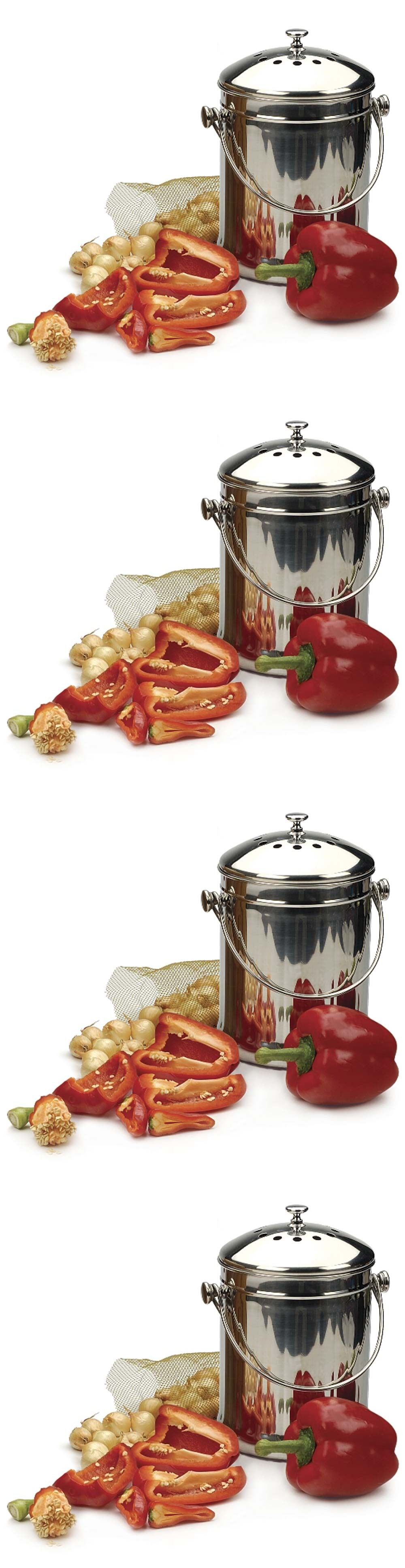 Garden Compost Bins 181023: Composter For Kitchen Compost Pail Stainless  Steel Indoor Organic Recycling Bin