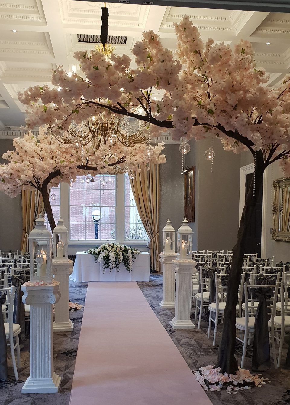 Pin By Yesenia Lopez On 25th Anniversary Renewal Artificial Cherry Blossom Tree Wedding Tree Decorations Blossom Trees
