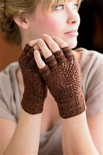 Ravelry: Inlaid Lace Mitts pattern by Rebecca Blair