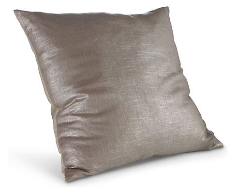 """Shimmer Pillows - Solid Pillows - 24"""" Taupe - Room & Board"""