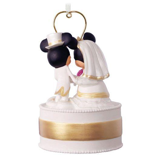 Disney Mickey And Minnie Personalized Wedding Cake Ornament Wedding Cake Ornament First Christmas Ornament Hallmark Ornaments