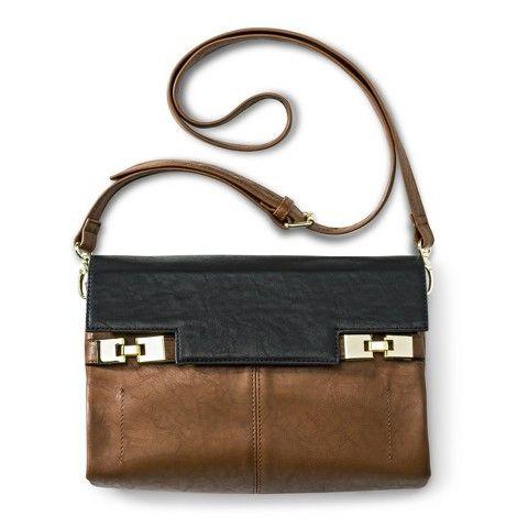 Merona® Solid Crossbody Handbag - Cognac