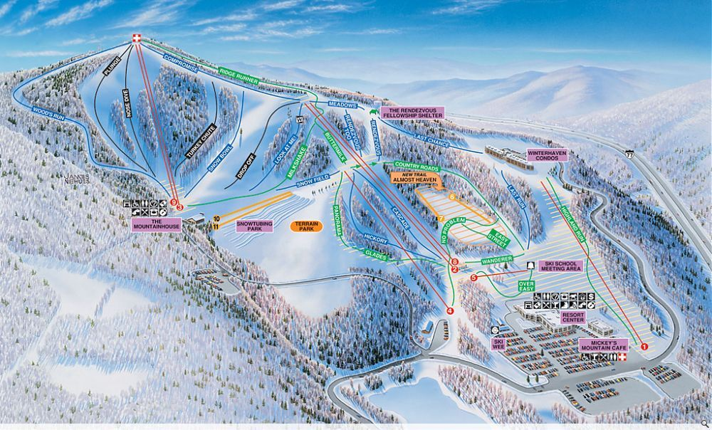 Skiing At Winterplace Beckley WV Where I Am Going Soon - Western us ski resorts map