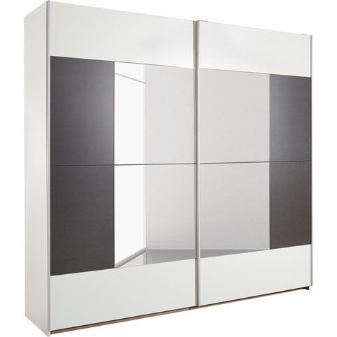 Armoire Penderie 2 Portes Coulissantes Avec Inserts Miroirs L 261 Cm Rauch 3suisses