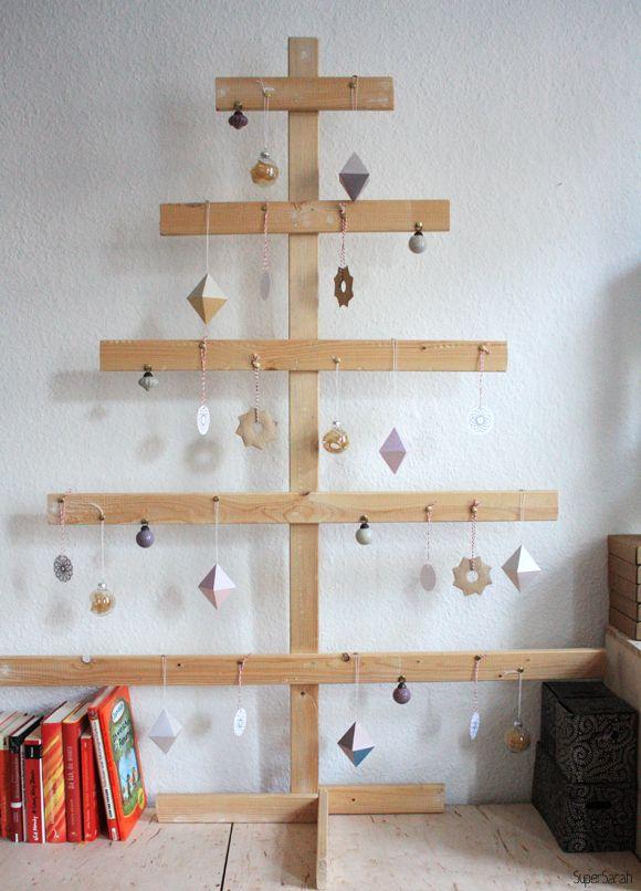 weihnachtsbaum diy christmas tree supersarah. Black Bedroom Furniture Sets. Home Design Ideas