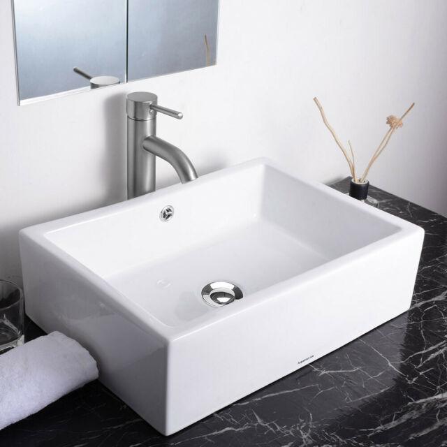 Details About 20 Rectangle Bathroom Vessel Sink Countertop
