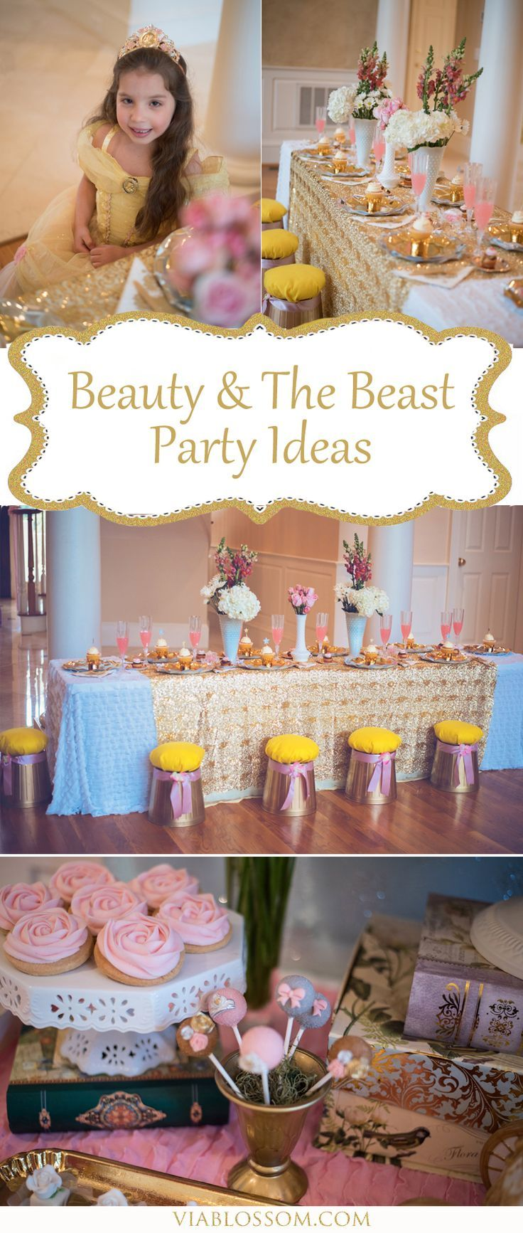 Be our guest to our top Beauty and the Beast Party Ideas for the ultimate party!  Beauty and the Beast party supplies, diys and inspiration!