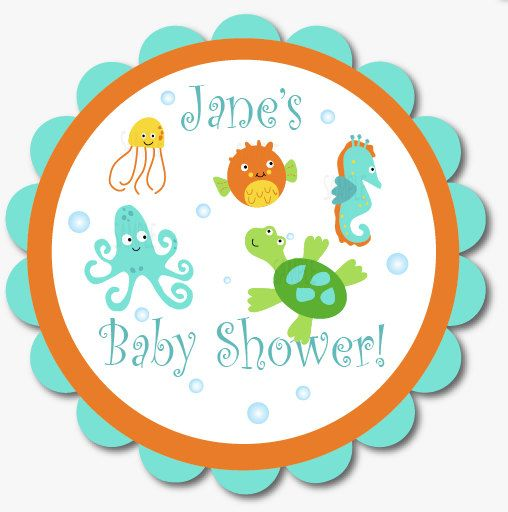 Sea Pals Door Sign Baby Shower or Birthday by PenguinPartyPress, $9.99
