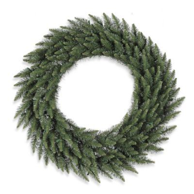 Vickerman   4-Foot Camdon Fir Wreath - Brighten up your home this Holiday Season with a realistic Vickerman Camdon Fir indoor/outdoor wreath. Perfect for a front door, mantle, stairway or archway.