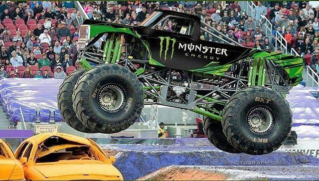 Titan Monster Truck W Monster Energy Paint Job Monster Trucks Trucks Big Trucks