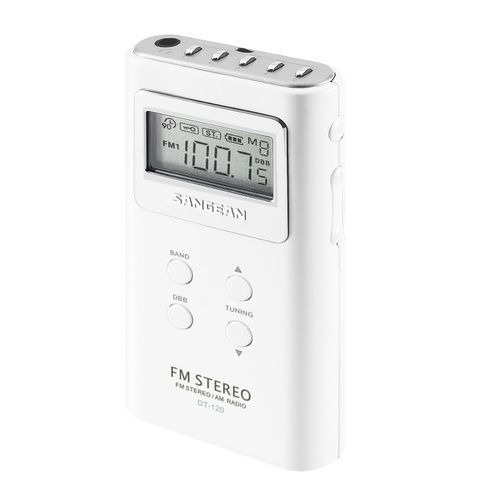 Sangean Fm Stereo Am Pll Synthesized Pocket Receiver White