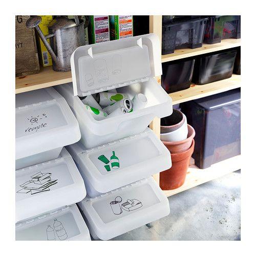 sortera bac recyclage avec couvercle 14 nourriture pour chien etc organization. Black Bedroom Furniture Sets. Home Design Ideas