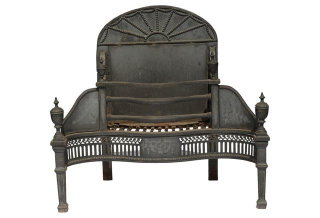 Antique Fireplace Throne