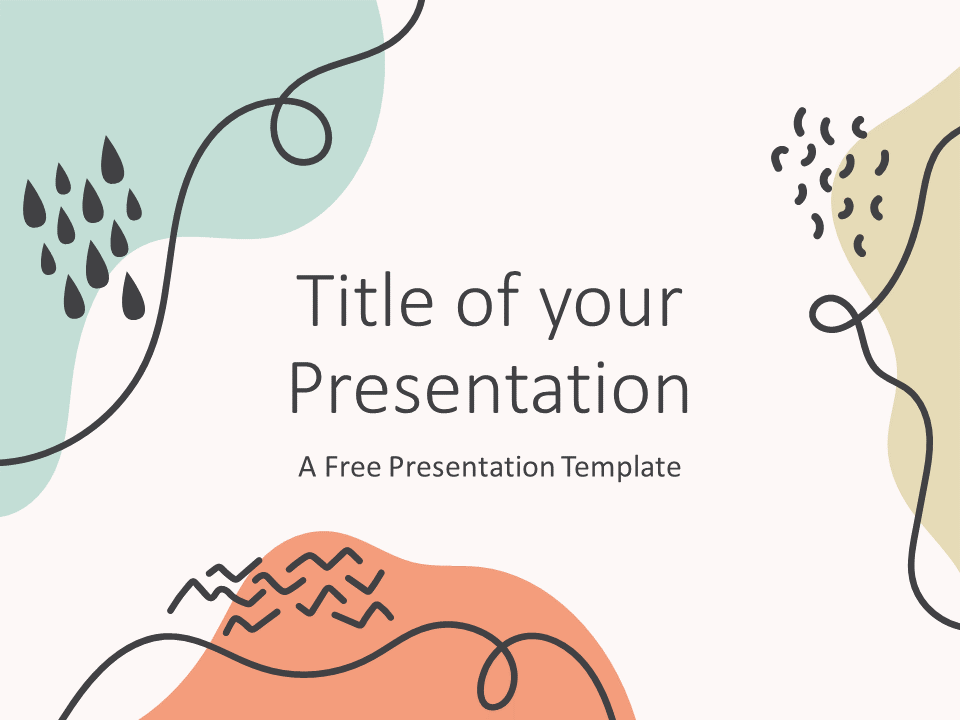 Trendy Memphis Template For Powerpoint And Google Slides Google Slides Powerpoint Background Design School Presentation Ideas