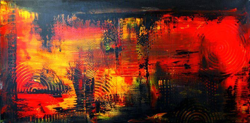 1 handgemalte unikate abstrakt rot schwarz gelb abstrakte kunst malerei wandbilder leinwandbild kunstbi acrylbilder leinwandbilder buntes abstraktes bild weiß bilder